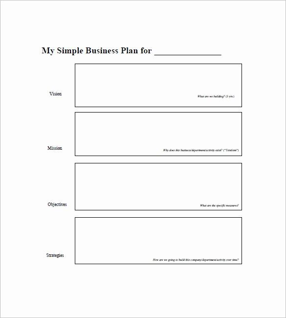 Free Basic Business Plan Template Beautiful Simple Business Plan Template – 20 Free Sample Example