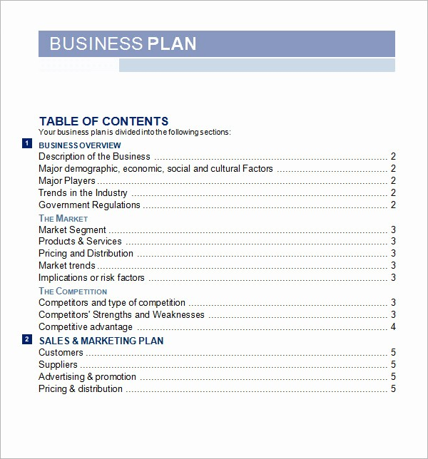 Free Basic Business Plan Template Best Of 30 Sample Business Plans and Templates