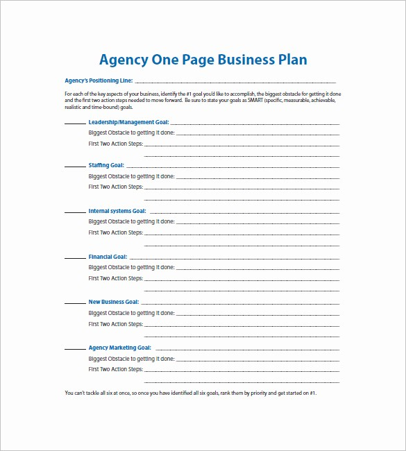 Free Basic Business Plan Template Best Of E Page Business Plan Template – 11 Free Word Excel Pdf