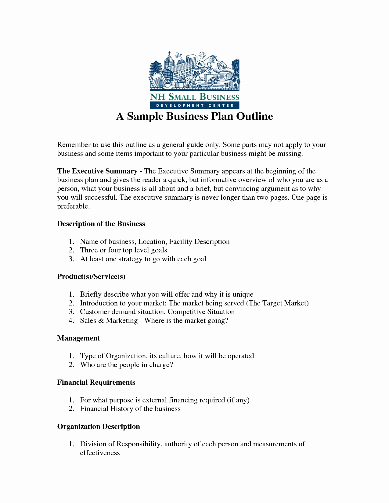 Free Basic Business Plan Template Best Of Free Printable Business Plan Sample form Generic