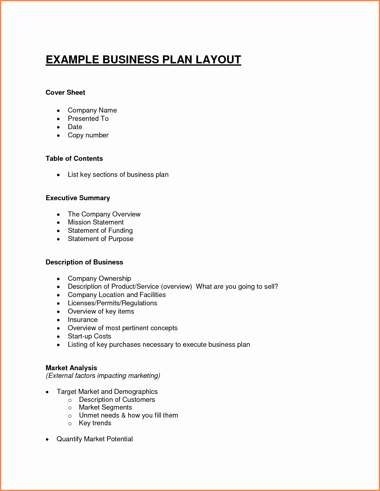 Free Basic Business Plan Template Lovely 7 Business Plan Proposal Outline