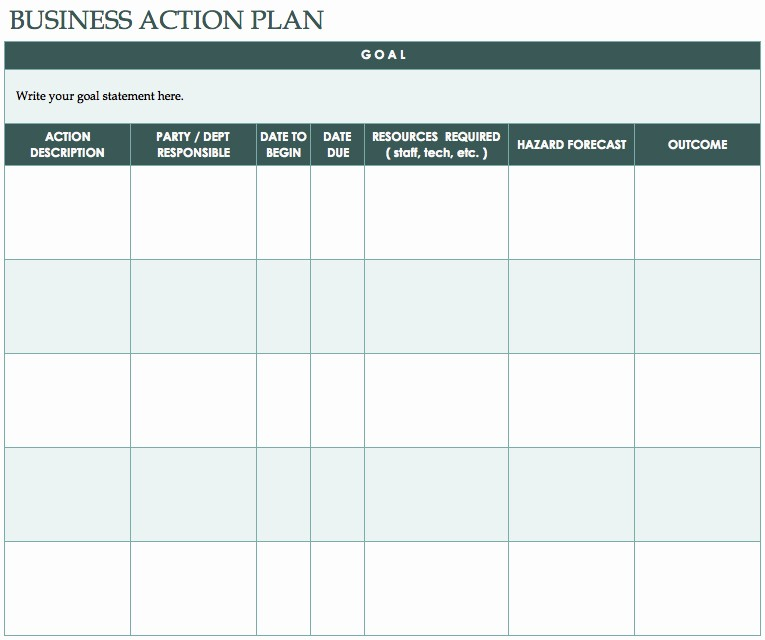 Free Basic Business Plan Template Lovely Free Action Plan Templates Smartsheet