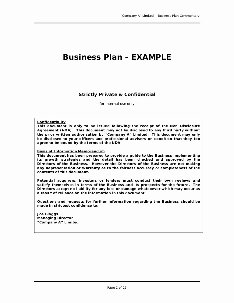 Free Basic Business Plan Template Luxury Business Plan Sample Great Example for Anyone Writing A