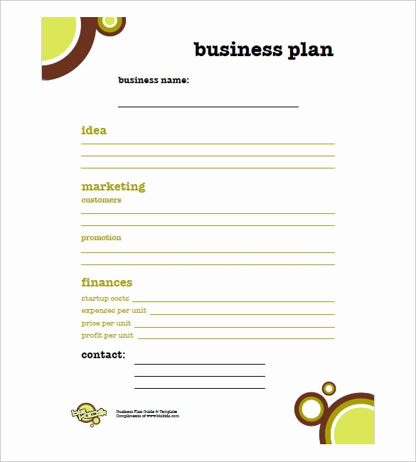 Free Basic Business Plan Template New Simple Business Plan Template – 14 Free Word Excel Pdf