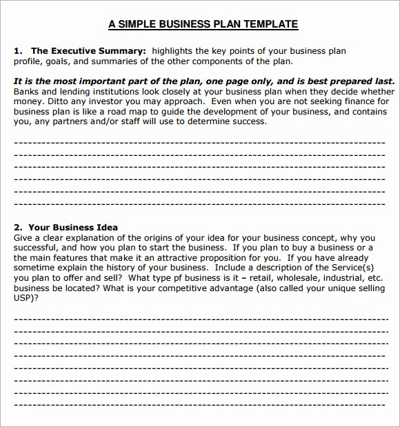 Free Basic Business Plan Template New Small Business Plan Template 6 Free Download for Pdf