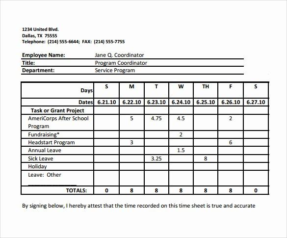 Free Bi Weekly Timesheet Calculator Fresh 9 Biweekly Timesheet Calculator – Samples Examples