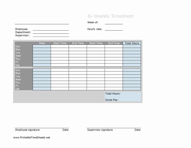 Free Bi Weekly Timesheet Calculator Luxury Download Biweekly Multiple Employee Timesheet with