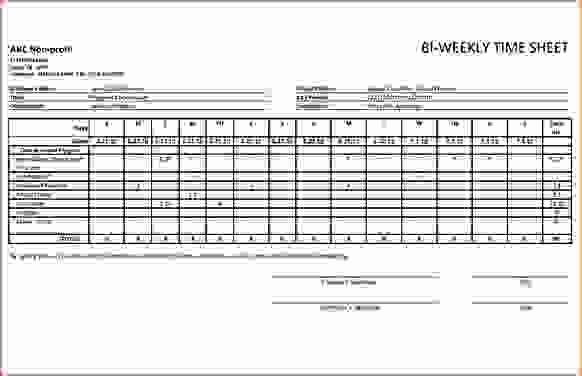 Free Bi Weekly Timesheet Calculator New 5 Biweekly Timesheet Calculator