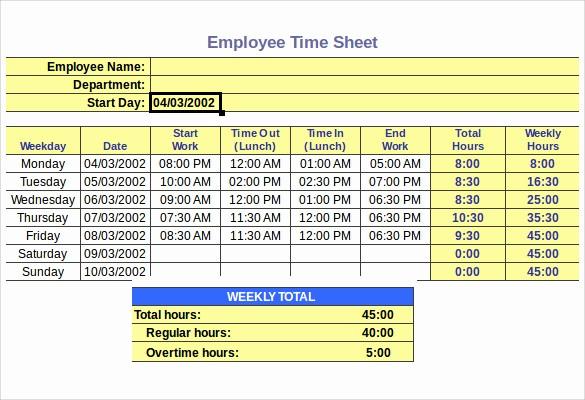 Free Bi Weekly Timesheet Calculator Unique How to Make Timesheet Calculator Excel Sample Employee