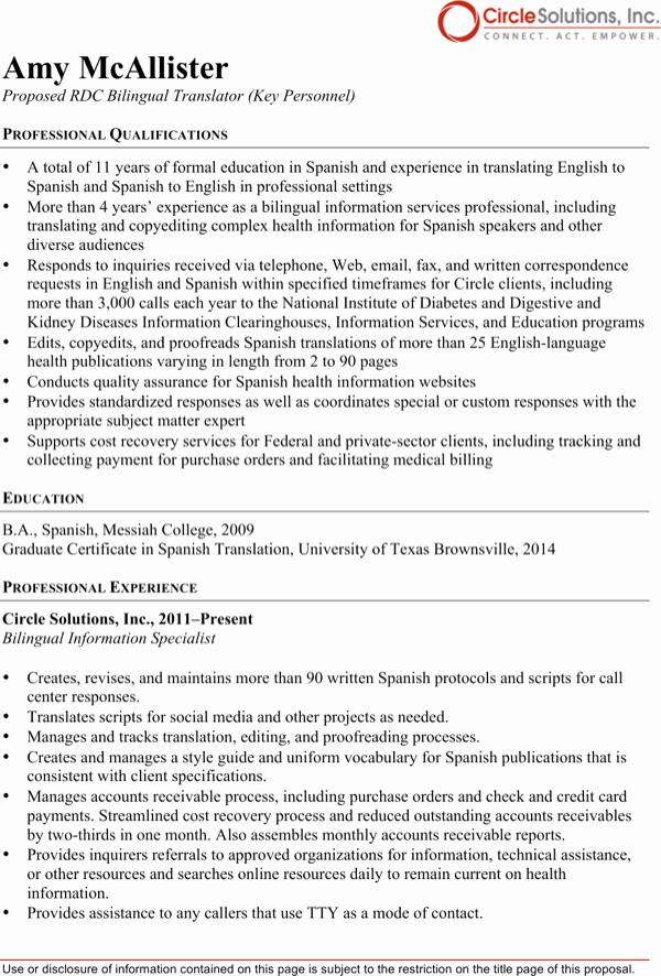 Free Bilingual Employment Application form Elegant Download Bilingual Translator Resume for Free formtemplate