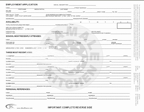 Free Bilingual Employment Application form Fresh Job Application Template In Spanish and English