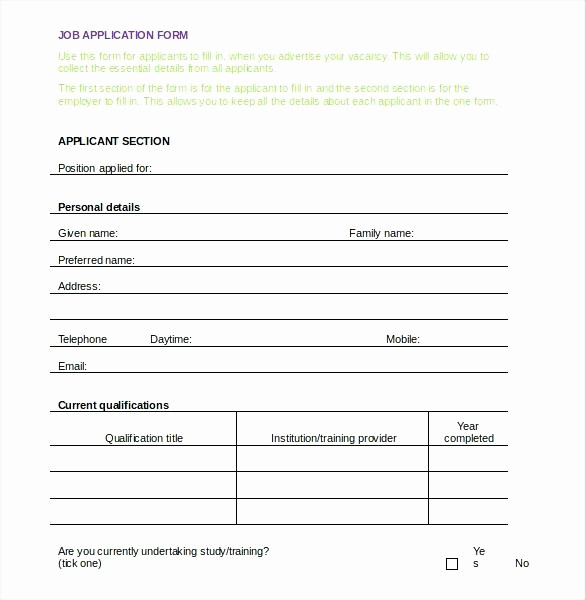 Free Bilingual Employment Application form Lovely Gallery Standard Job Application with Emergency Contact