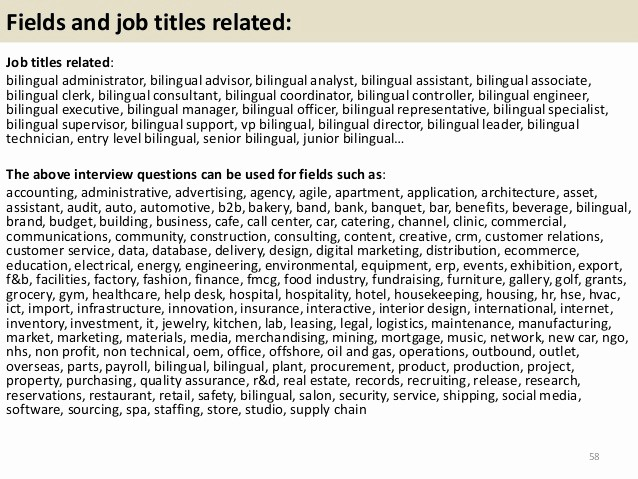 Free Bilingual Employment Application form Lovely top 36 Bilingual Interview Questions with Answers Pdf