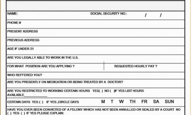 Free Bilingual Employment Application form Luxury 100 Job Application In Spanish Printable Job Application