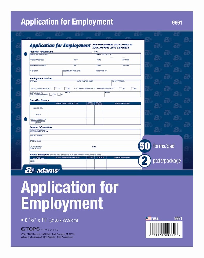 Free Bilingual Employment Application form Unique wholesale Bilingual Employee Application Abf9661es In Bulk