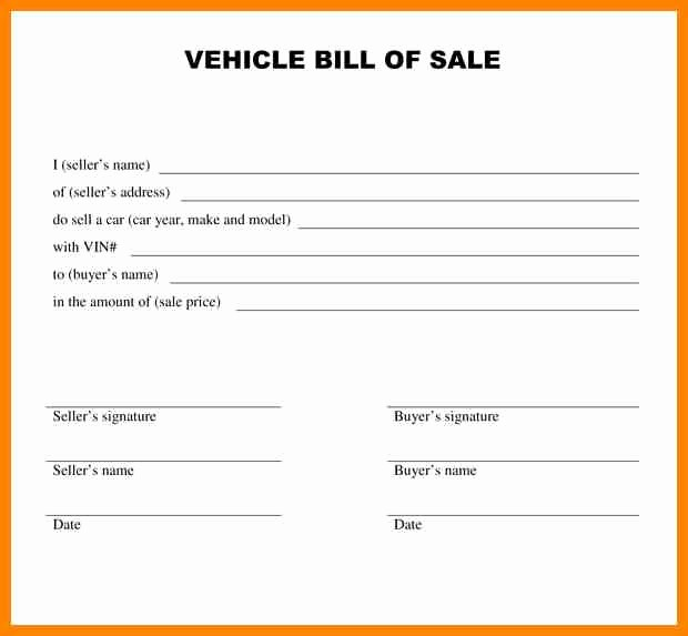 Free Bill Of Sale Contract Beautiful Car Sale Agreement Word Doc