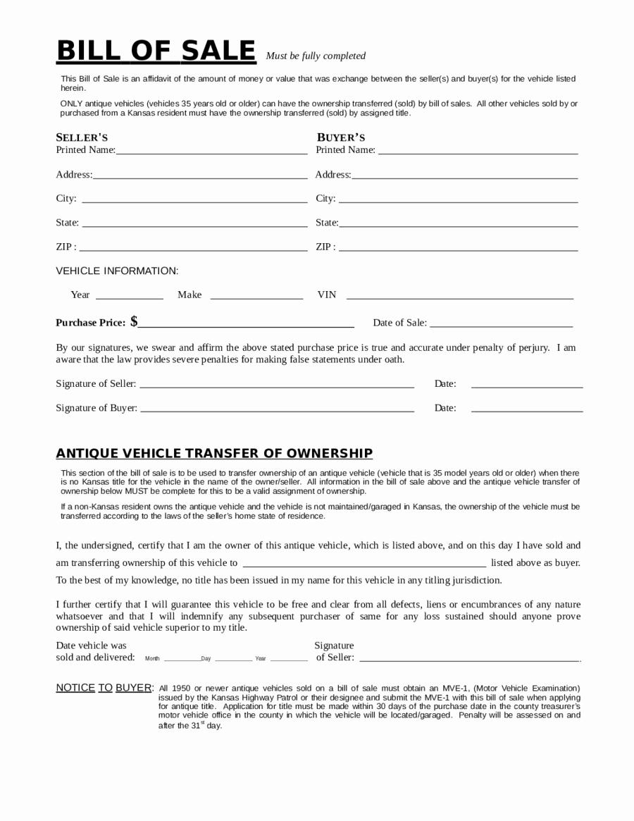 Free Bill Of Sale Dmv Fresh Dmv Bill Of Sale Free Printable Dmv Bill Of Sale forms