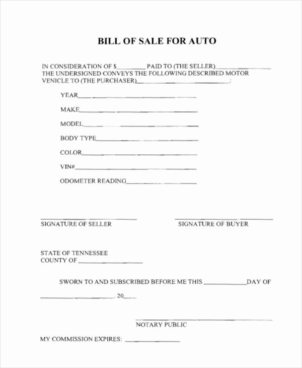 Free Bill Of Sale Dmv Inspirational Sample Dmv Bill Of Sale form 8 Free Documents In Pdf