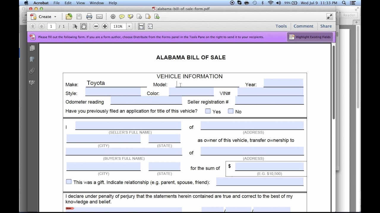 Free Bill Of Sale Dmv Unique Write A Free Alabama Bill Of Sale