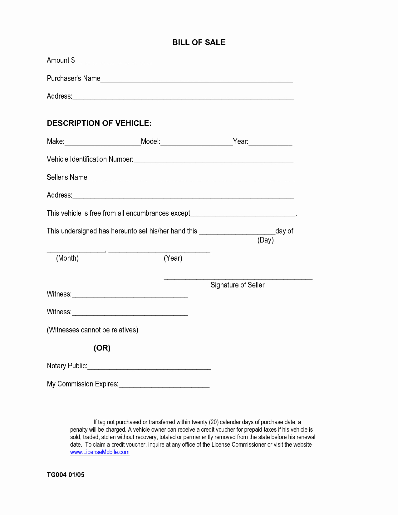 Free Bill Of Sale Printable New Printable Sample Car Bill Of Sale form