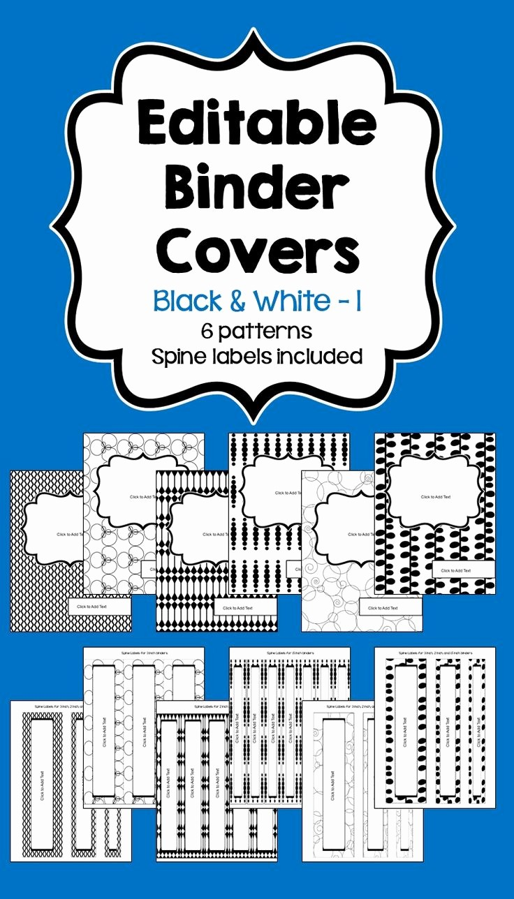 Free Binder Covers and Spines Best Of Editable Binder Covers & Spines In Black & White Part 1