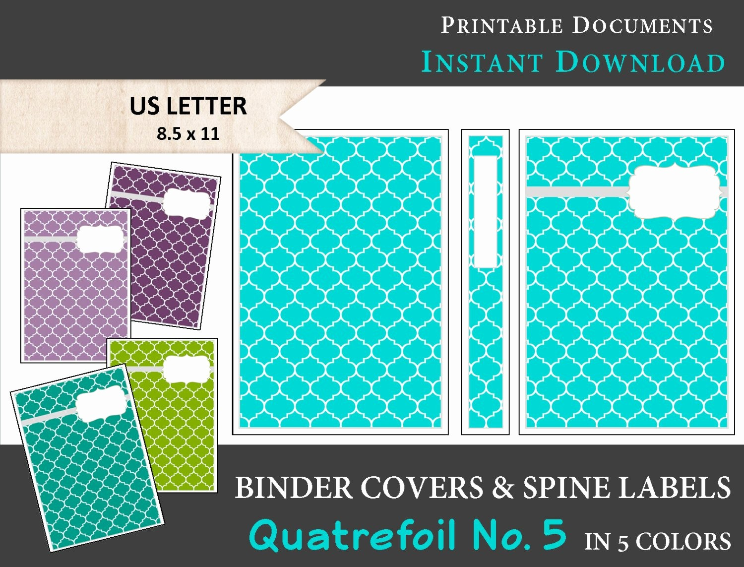 Free Binder Covers and Spines Fresh Printable Binder Covers & Spine Label Inserts In 5 Colors