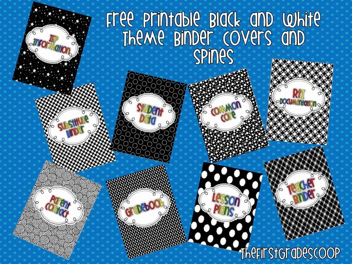 Free Binder Covers and Spines Unique the First Grade Scoop More Free Binder Covers and Spines