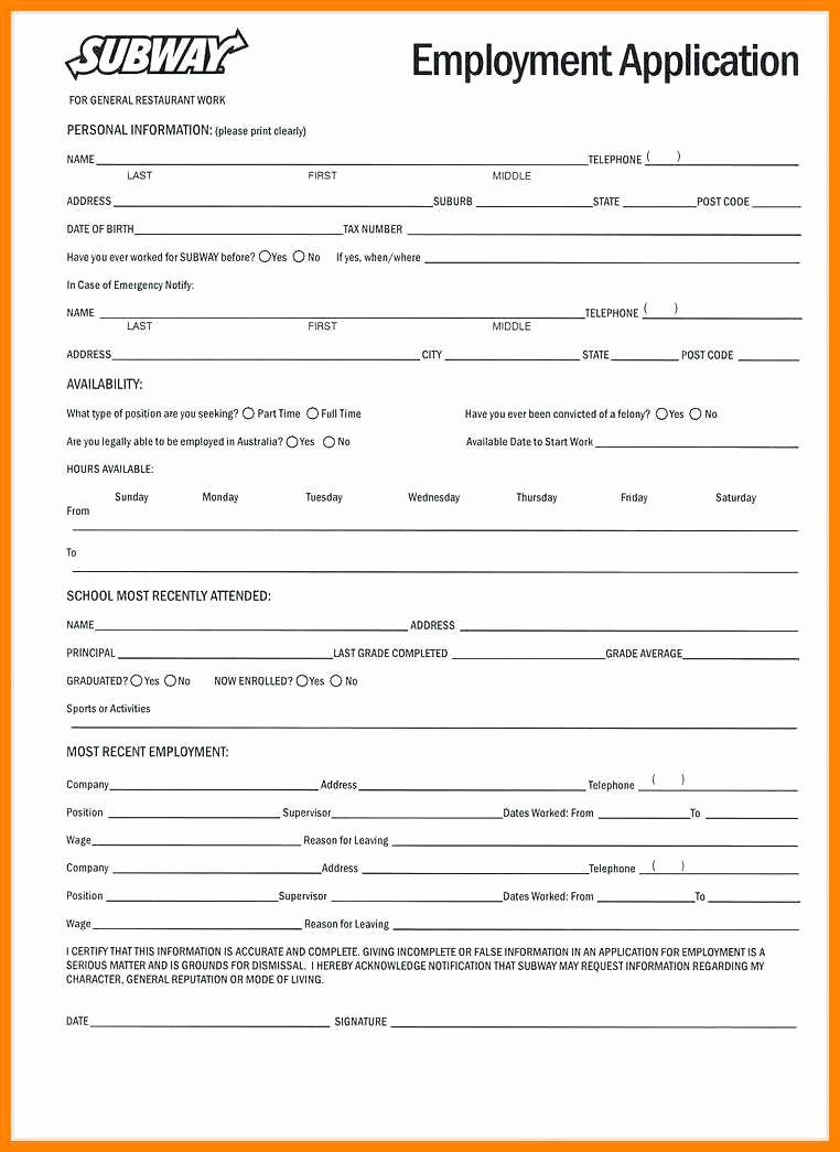 Free Blank Employment Application form Awesome 4 5 Employee Application form Free Printable