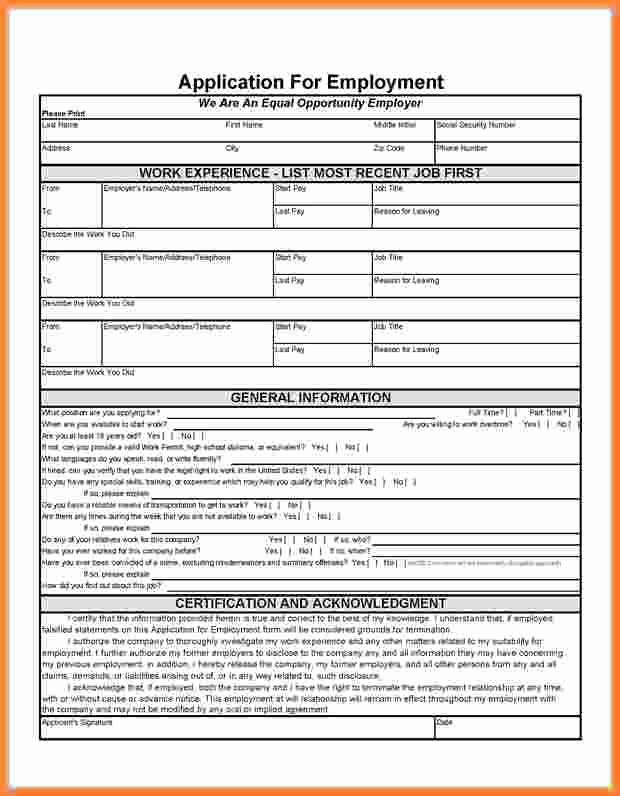 Free Blank Employment Application form Beautiful Free Printable Job Applicationee Printable Application