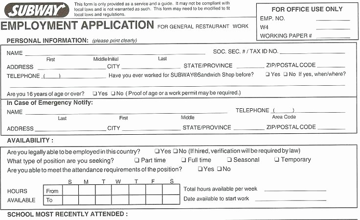 Free Blank Employment Application form Luxury Blank Job Applications to Print Free Printable Application