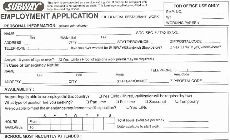Free Blank Employment Application form Luxury Blank Job Applications to Print Free Printable Application