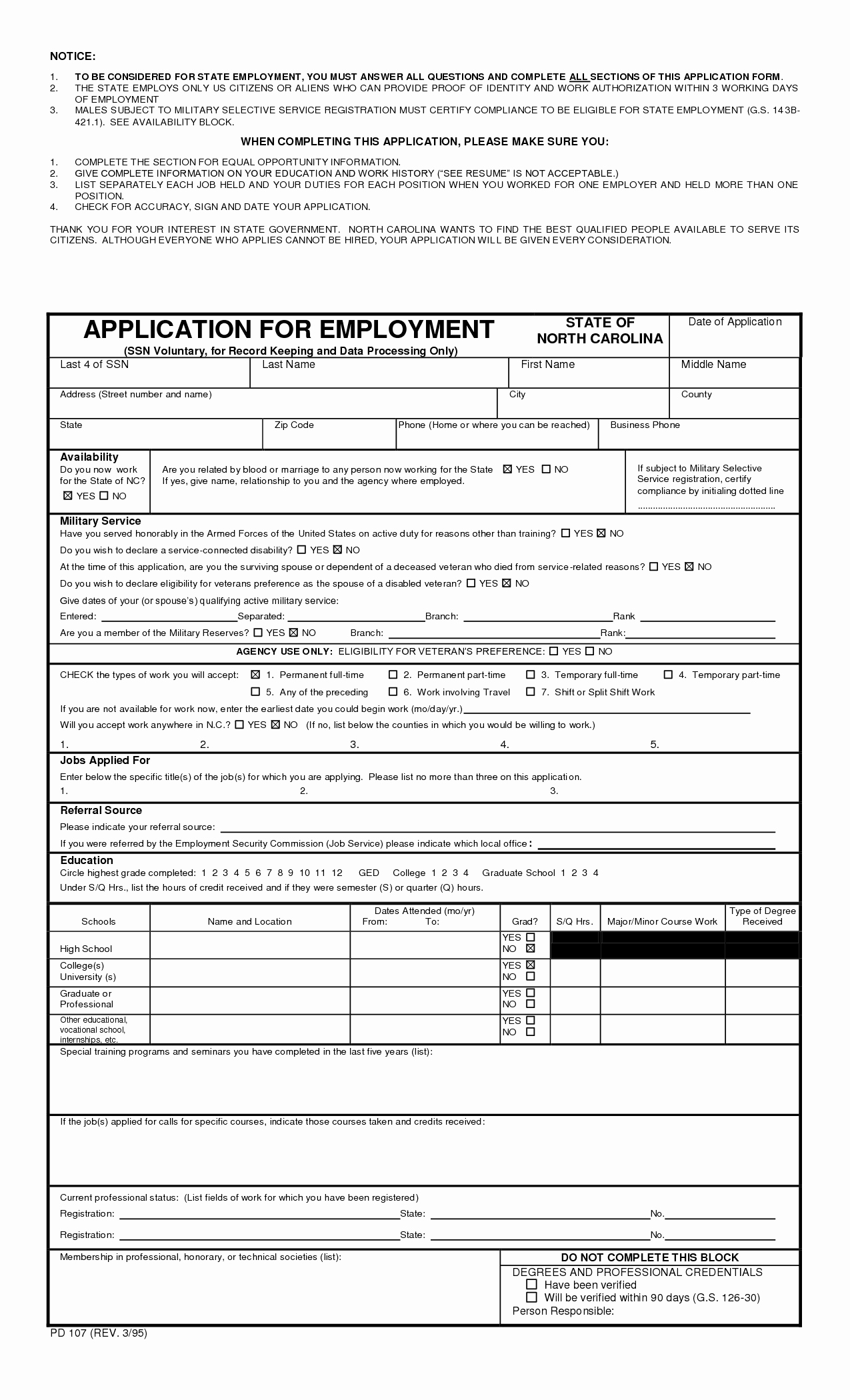 Free Blank Employment Application form Unique 7 Best Of Blank Printable Medical Application