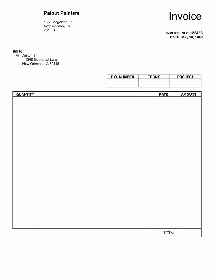 Free Blank Invoice Template Word Elegant Blank Invoice Template In Word and Pdf formats