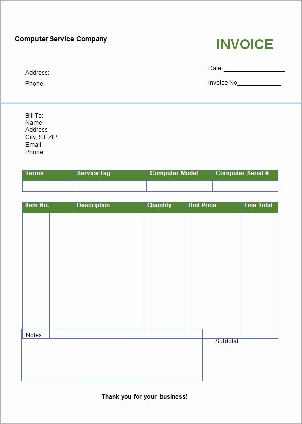 Free Blank Invoice Template Word Fresh Invoice format In Word Free Download