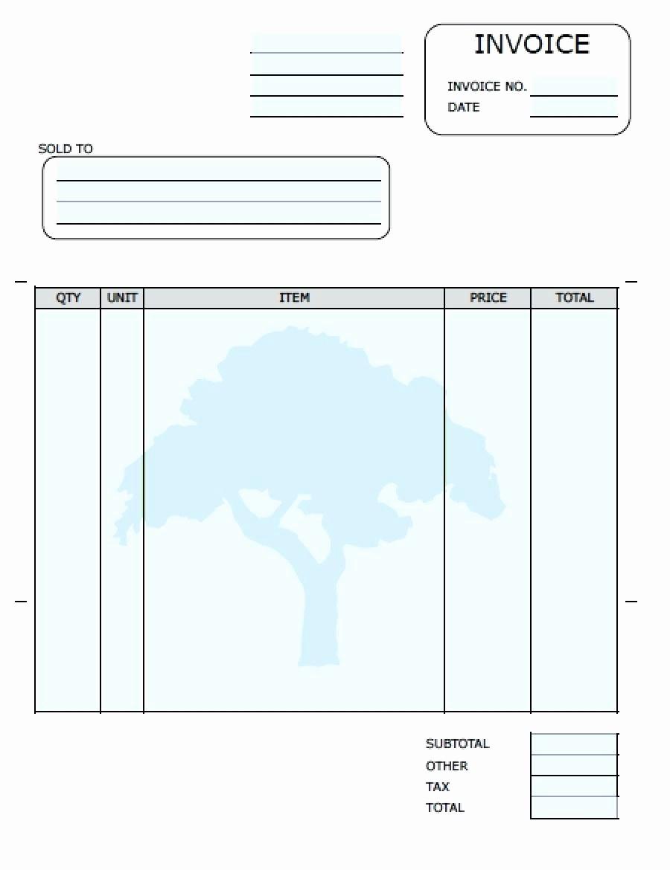 Free Blank Invoice Template Word Fresh Template Blank Invoice Template Printable