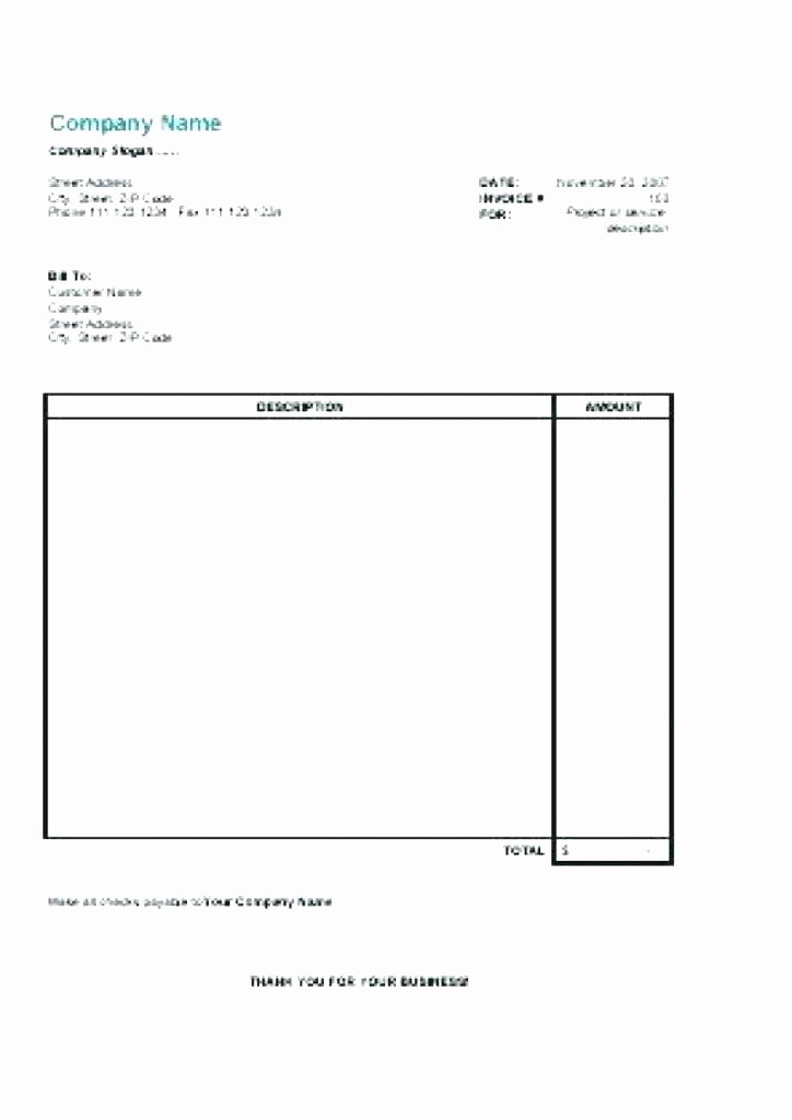 Free Blank Invoice Template Word Lovely Free Printable Invoice Template Word Internet Hosting Free