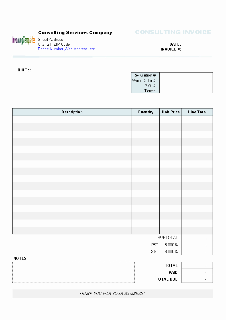 Free Blank Invoice Template Word New Word Invoice Template Mac