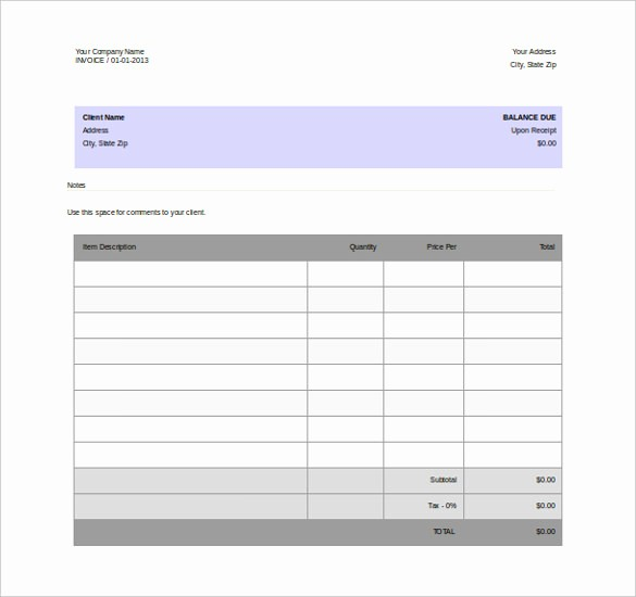Free Blank Invoice Template Word Unique 12 Microsoft Word Free Blank Templates Download
