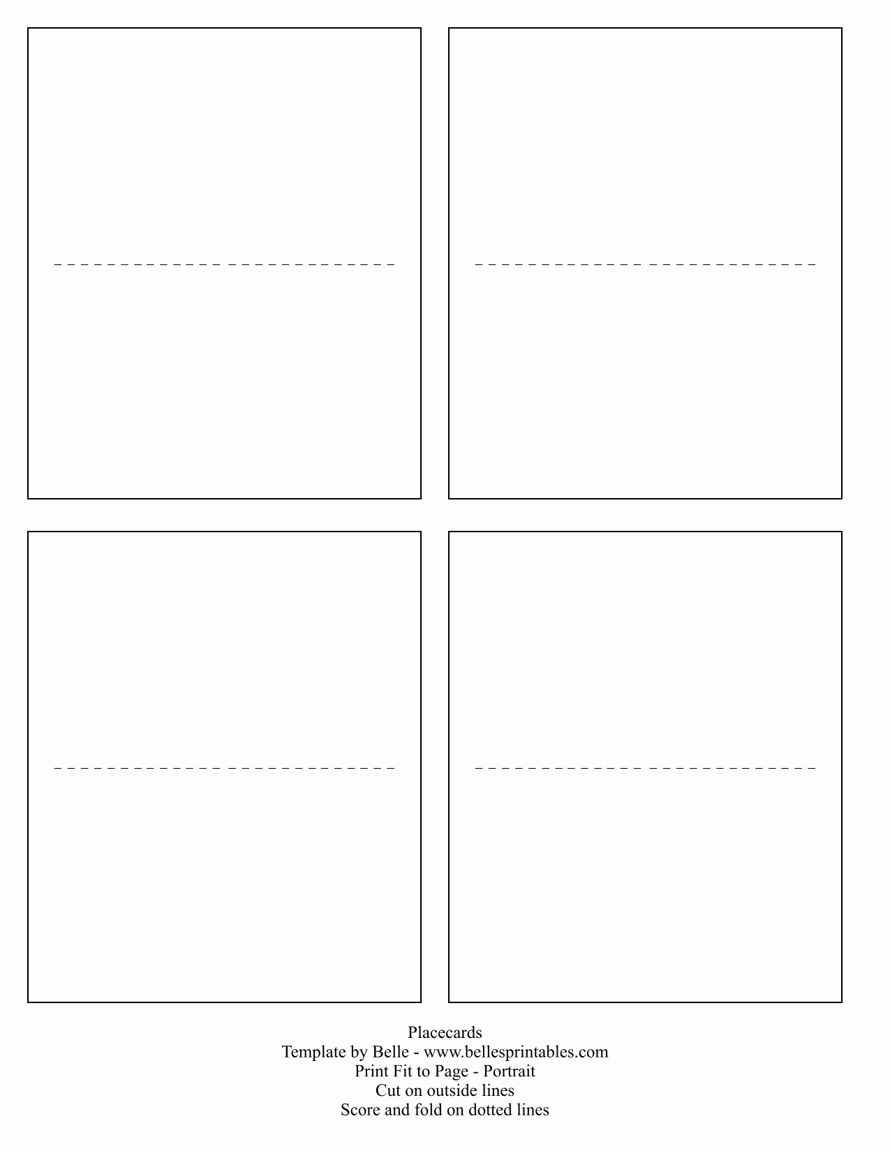 Free Blank Place Card Template Fresh Printable Place Cards Template