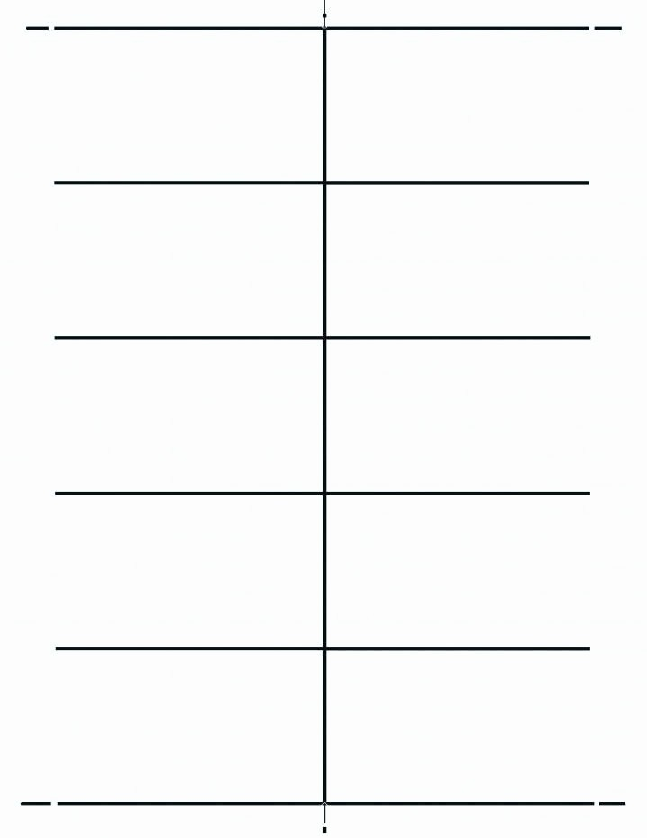 blank place card template 4 per sheet