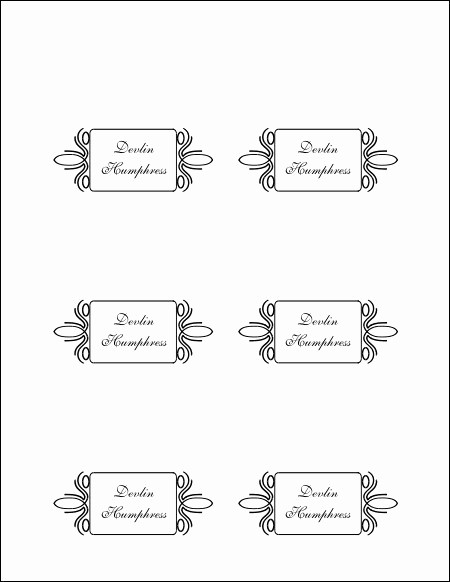 Free Blank Place Card Template Lovely Free Printable Blank Place Card Template