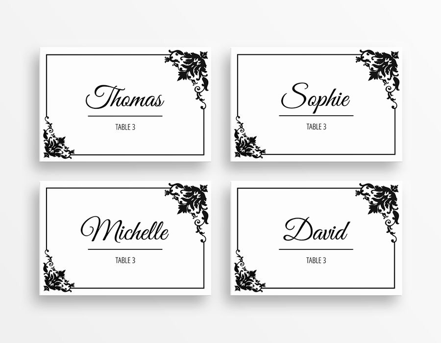 Free Blank Place Card Template Lovely Place Cards Printable