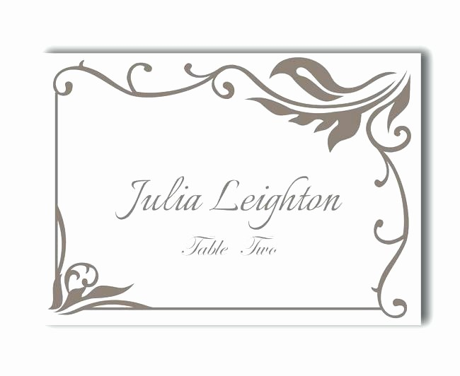 Free Blank Place Card Template New Free Printable Blank Place Card Template