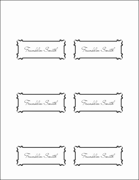 Free Blank Place Card Template New Place Cards Template
