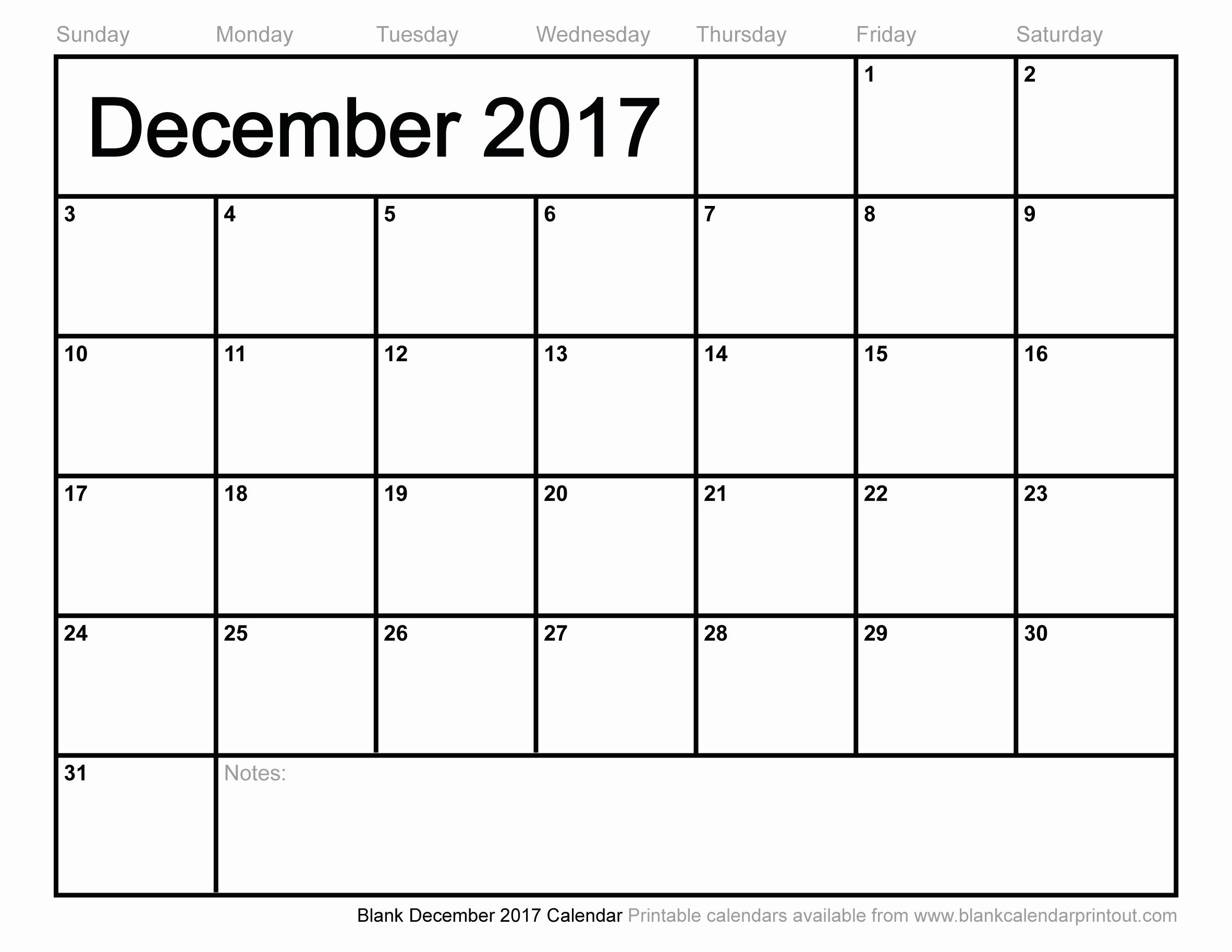 Free Blank Printable Calendar 2017 Awesome December 2017 Calendar Canada