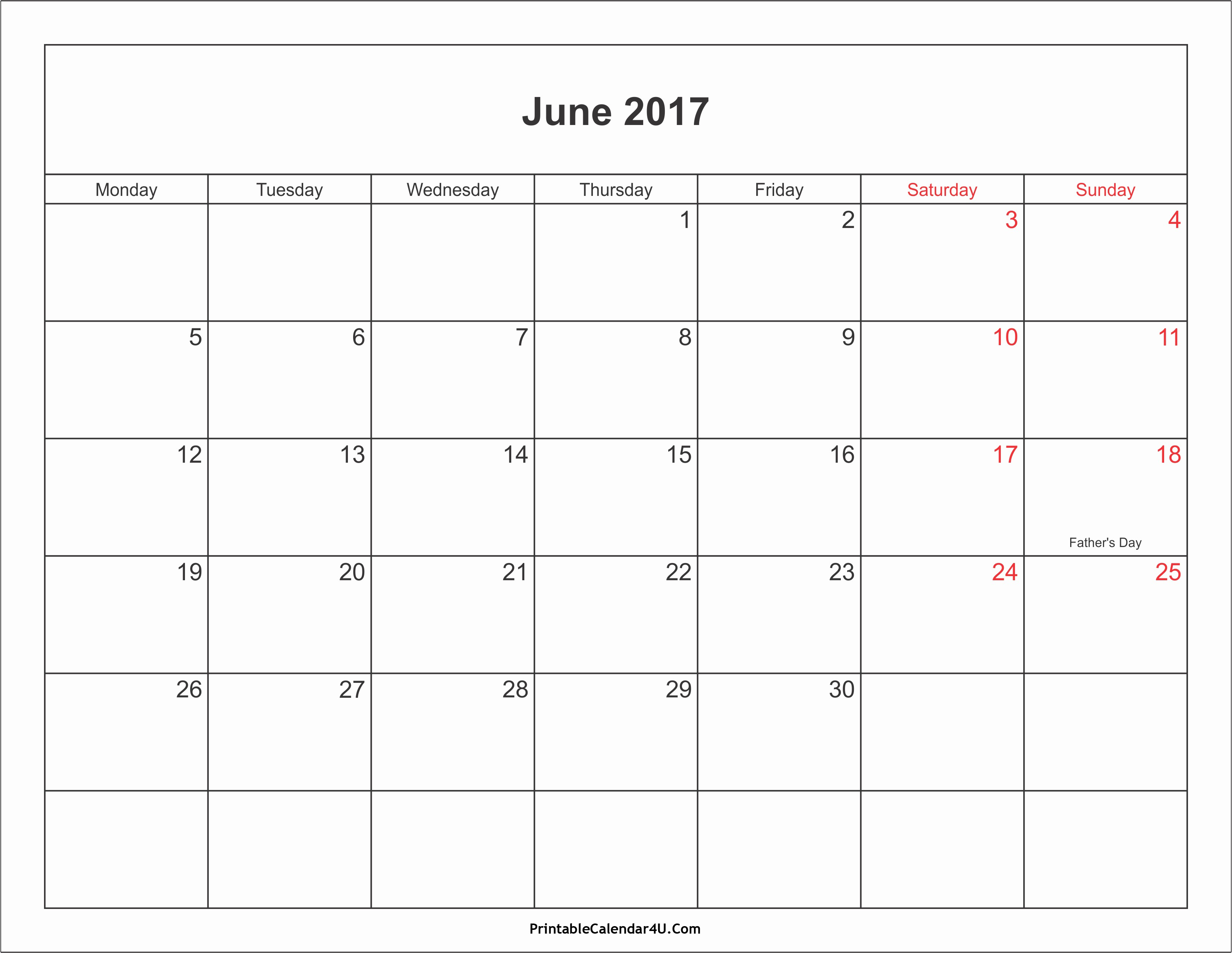 Free Blank Printable Calendar 2017 Elegant June 2017 Calendar Printable with Holidays Pdf and Jpg