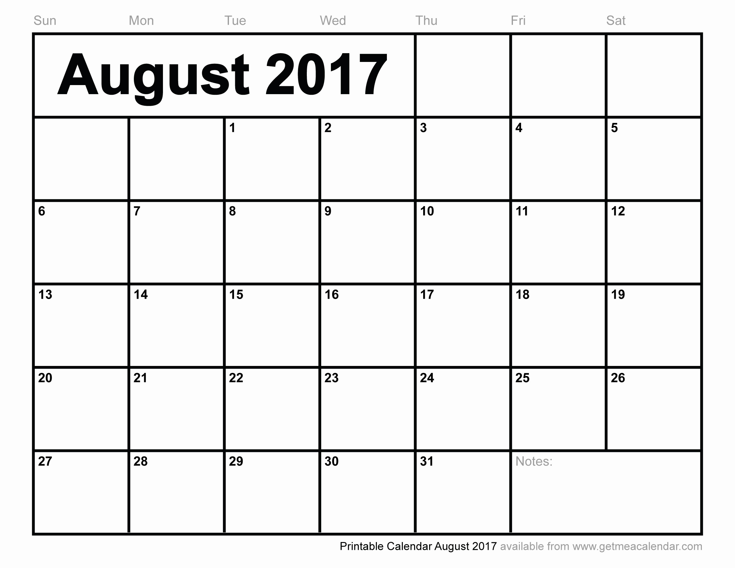 Free Blank Printable Calendar 2017 Lovely August 2017 Calendar Excel