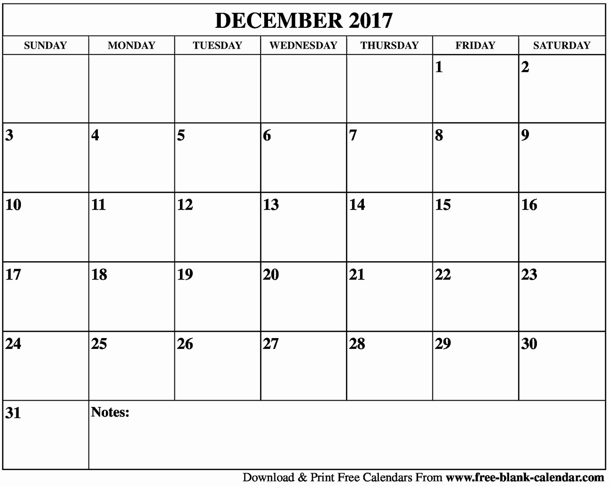 Free Blank Printable Calendar 2017 Lovely Blank December 2017 Calendar Printable