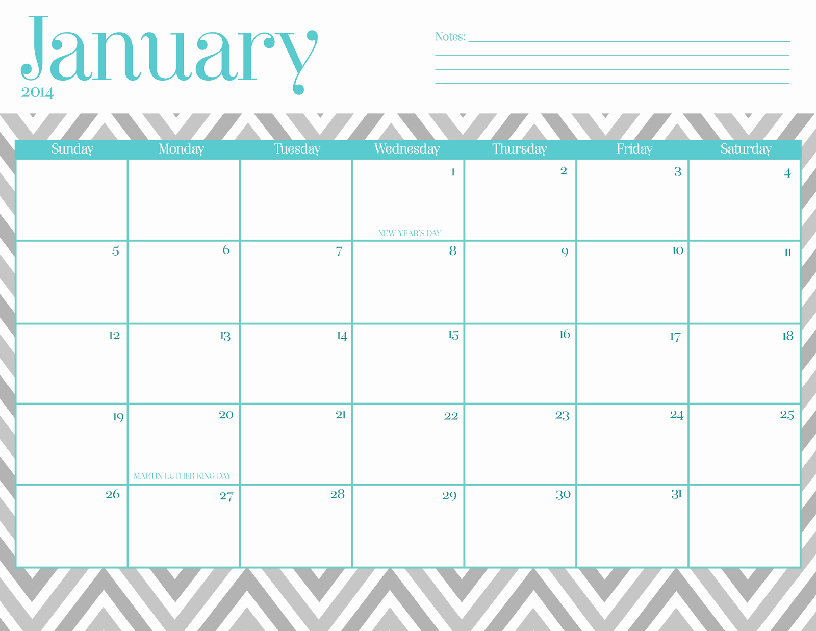 Free Blank Printable Calendar 2017 Lovely Free 2016 Calendar Printable Chevron