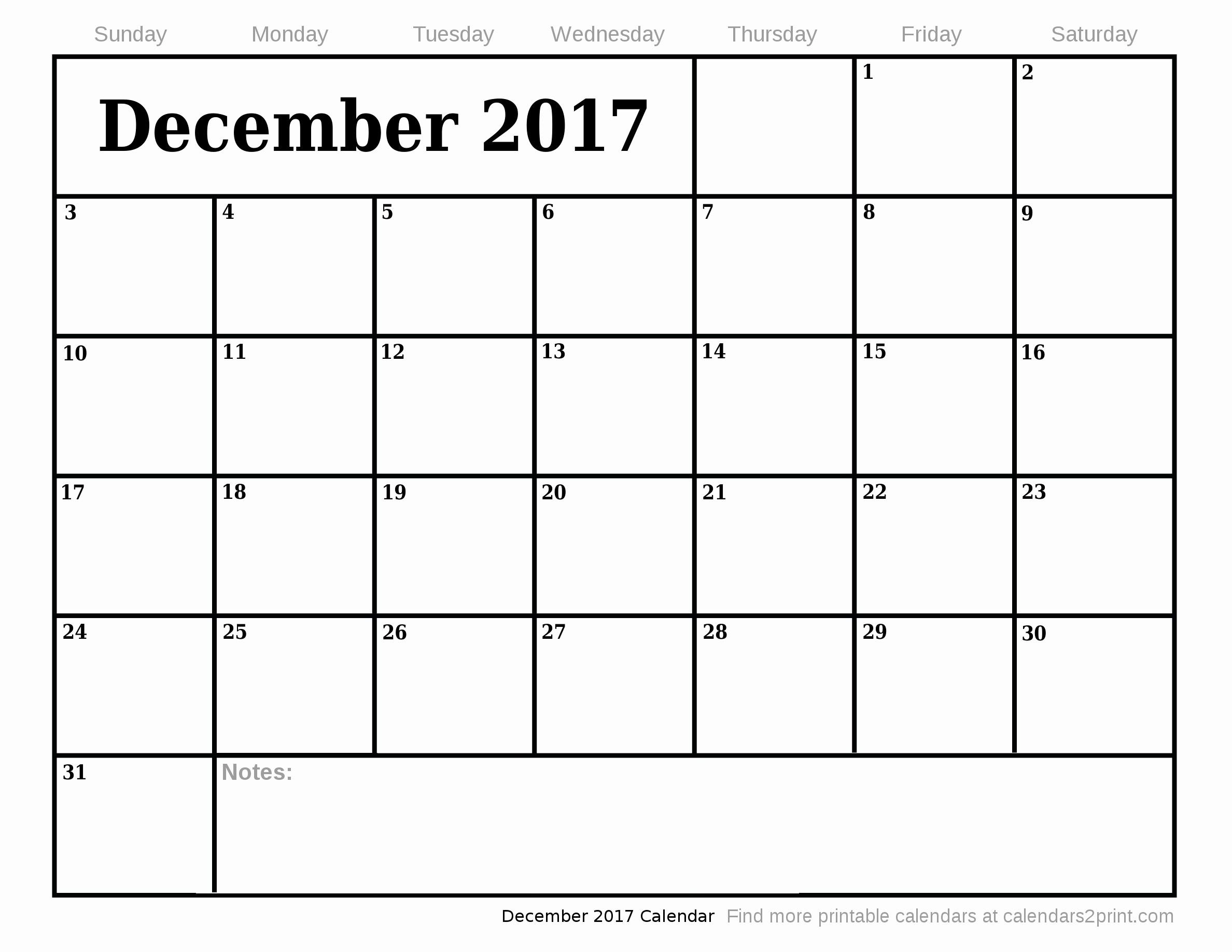 Free Blank Printable Calendar 2017 Luxury December 2017 Printable Calendar